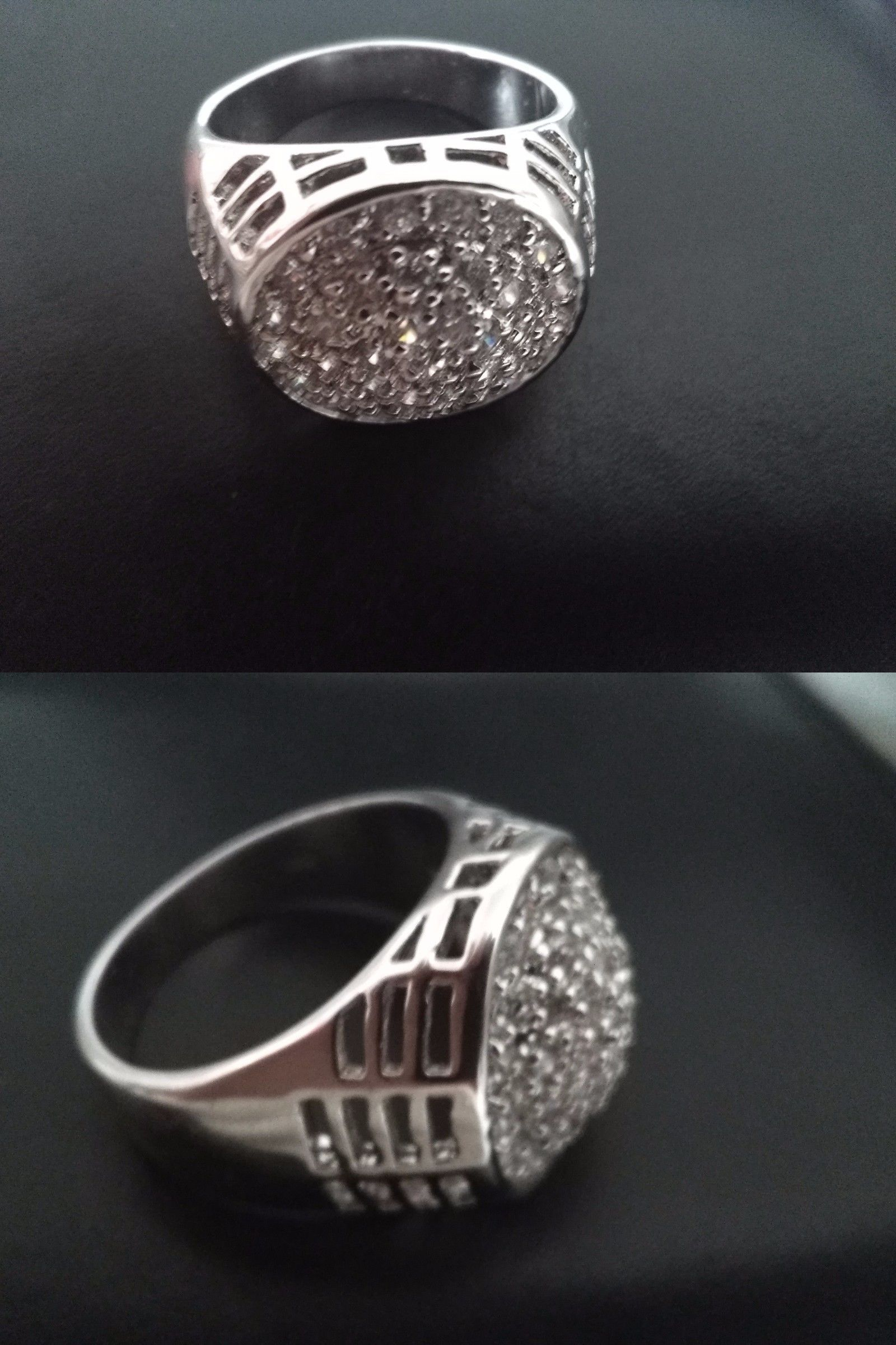 Sets without Stones 177019: Mens White Gold Diamond Ring BUY IT NOW ONLY: $200.0