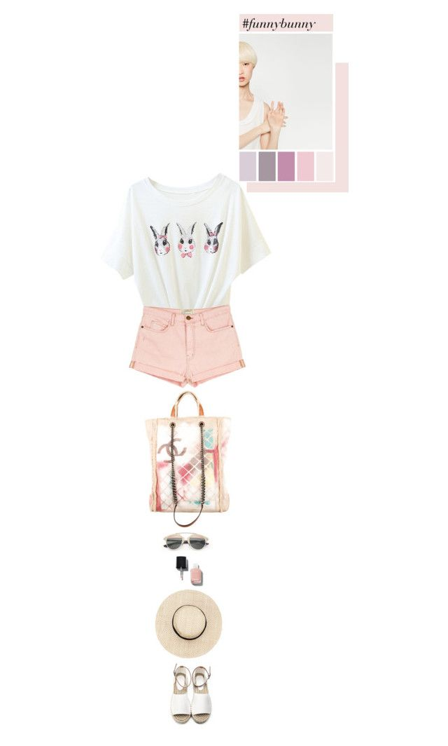 """""""#funnybunny"""" by thehamptonsgirl ❤ liked on Polyvore featuring Current/Elliott, Chanel and Christian Dior"""
