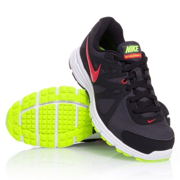 0b82b32bd523 Nike Revolution 2 MSL - Mens Running Shoes - Black Red Yellow