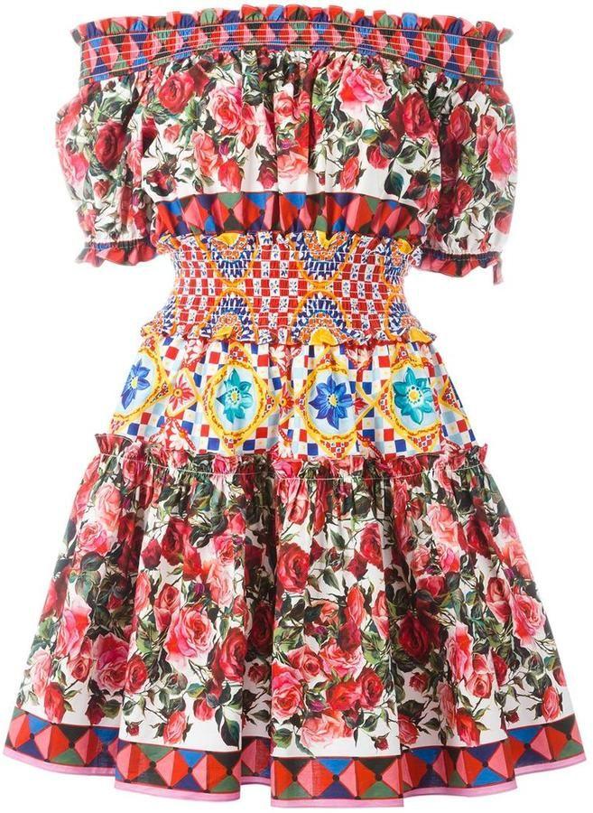 4bef57539012 Dolce   Gabbana Mambo print peasant dress