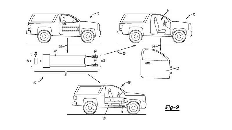 For The Ford Bronco Two Patents Show Removable Doors Ford