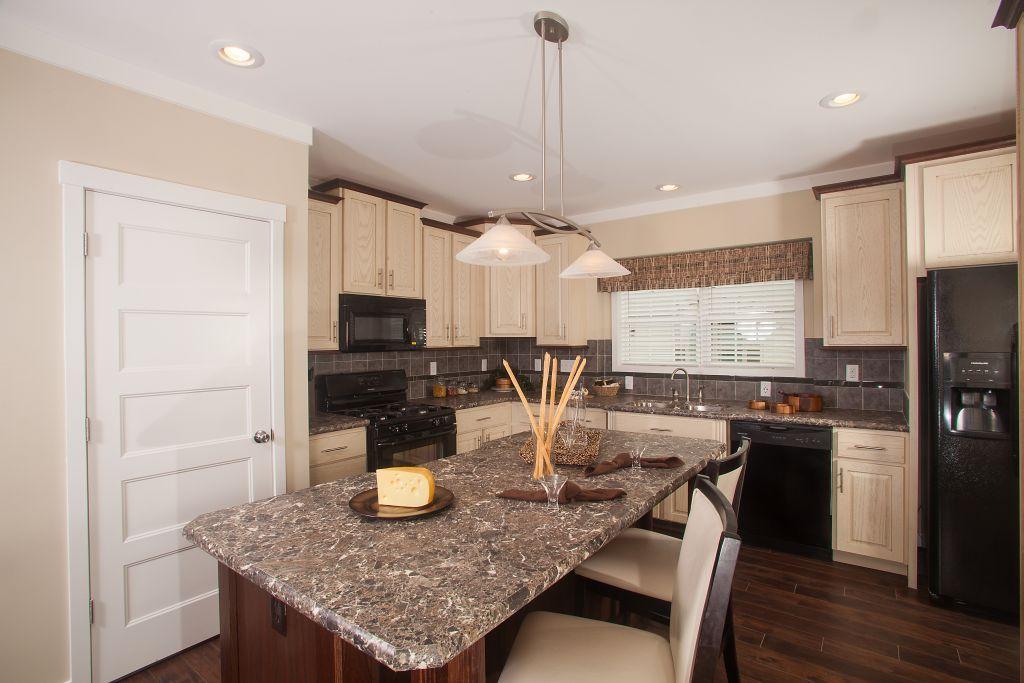 Colony Homes   Max 2 CN338A   Cornerstone Modular Ranch   Kitchen Shown  With Chiffon Glazed