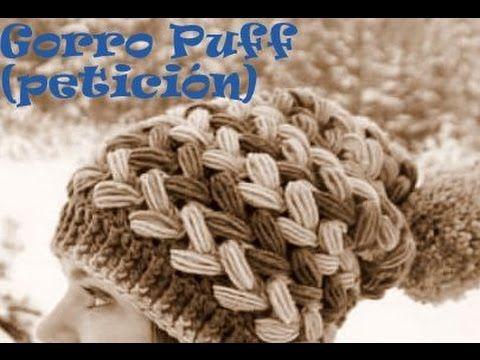 Gorro Crochet en Punto Puff Entrecruzado   Tutoriales  24f2332a6ce