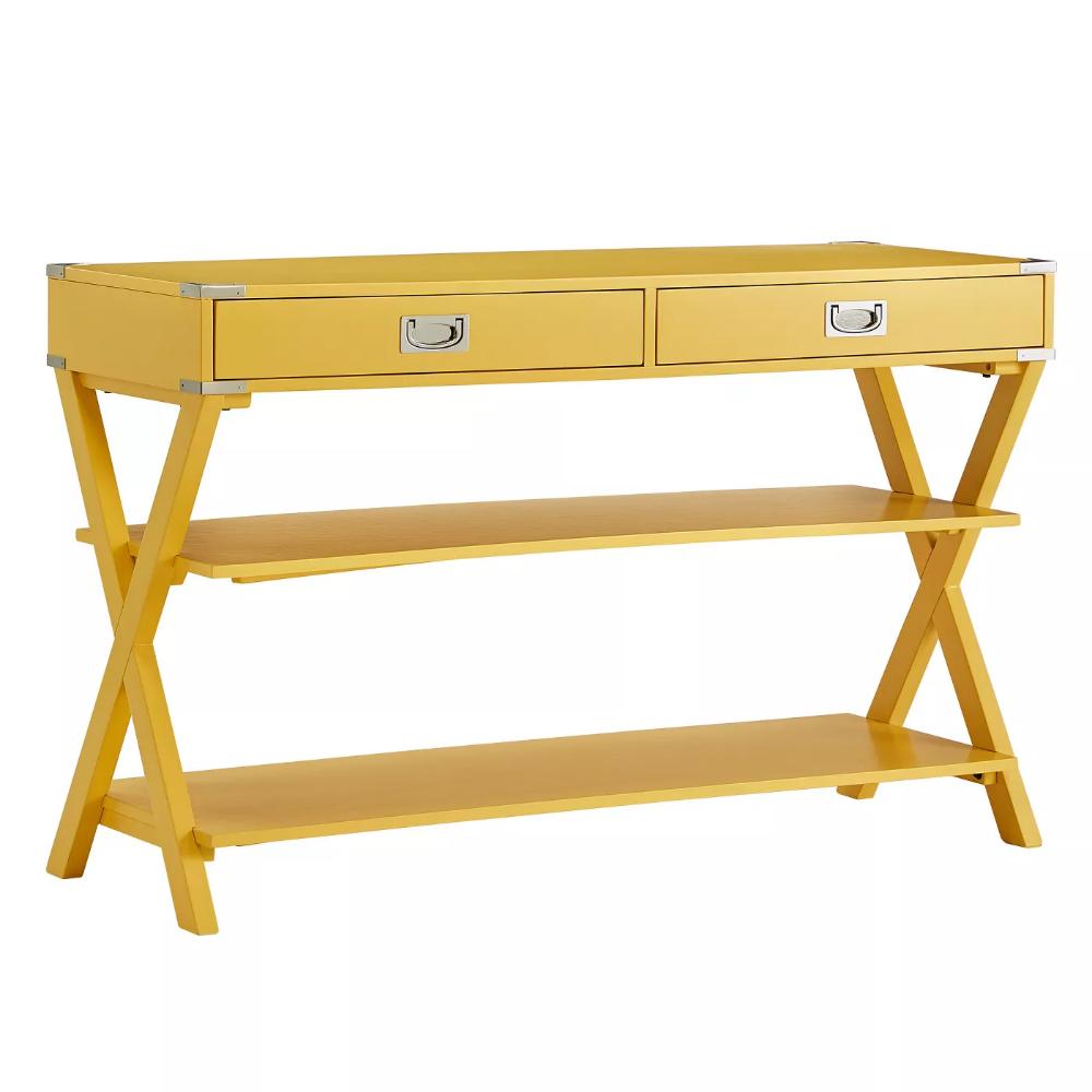 Borden Campaign Sofa Table Tv Stand Yellow Inspire Q