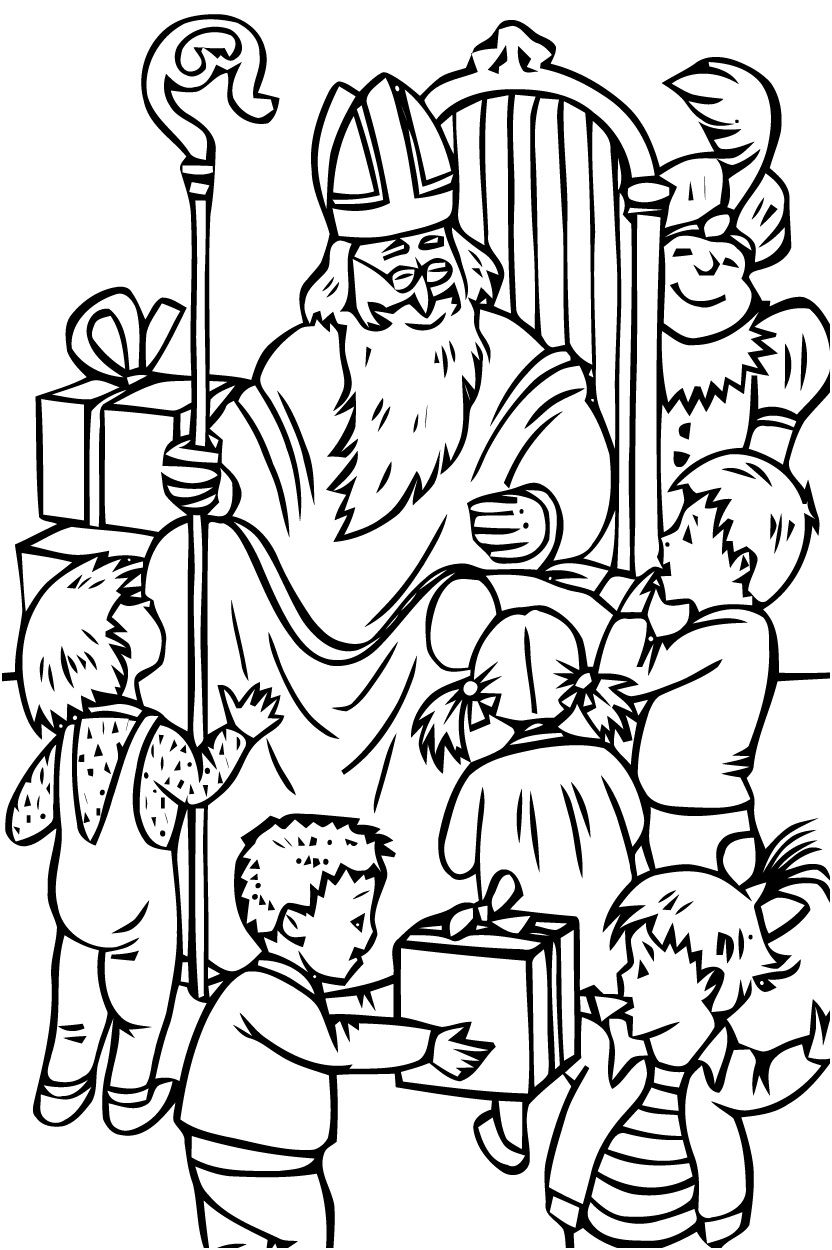 14 Harmonieux Saint Nicolas Coloriage Collection (met afbeeldingen