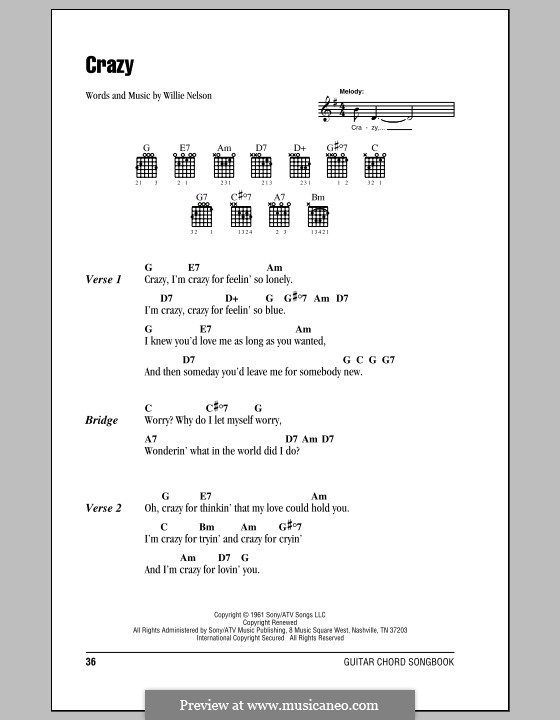 guitar chords willie nelson crazy - Google Search | Musical ...