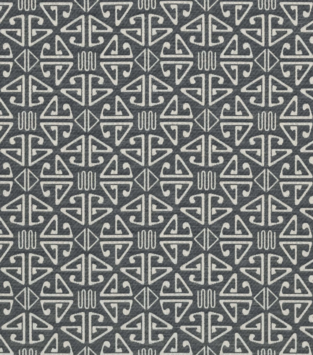 home decor upholstery fabric-crypton aztec-black | hemp leaf, leaf