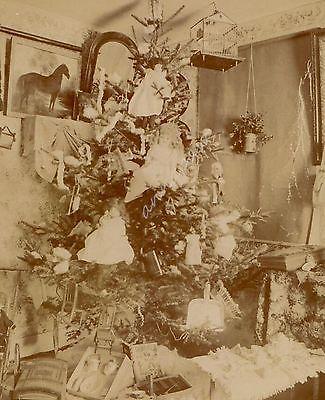 Toy Doll Christmas Tree Vintage Photo Montauk Camera Brownington Center VT