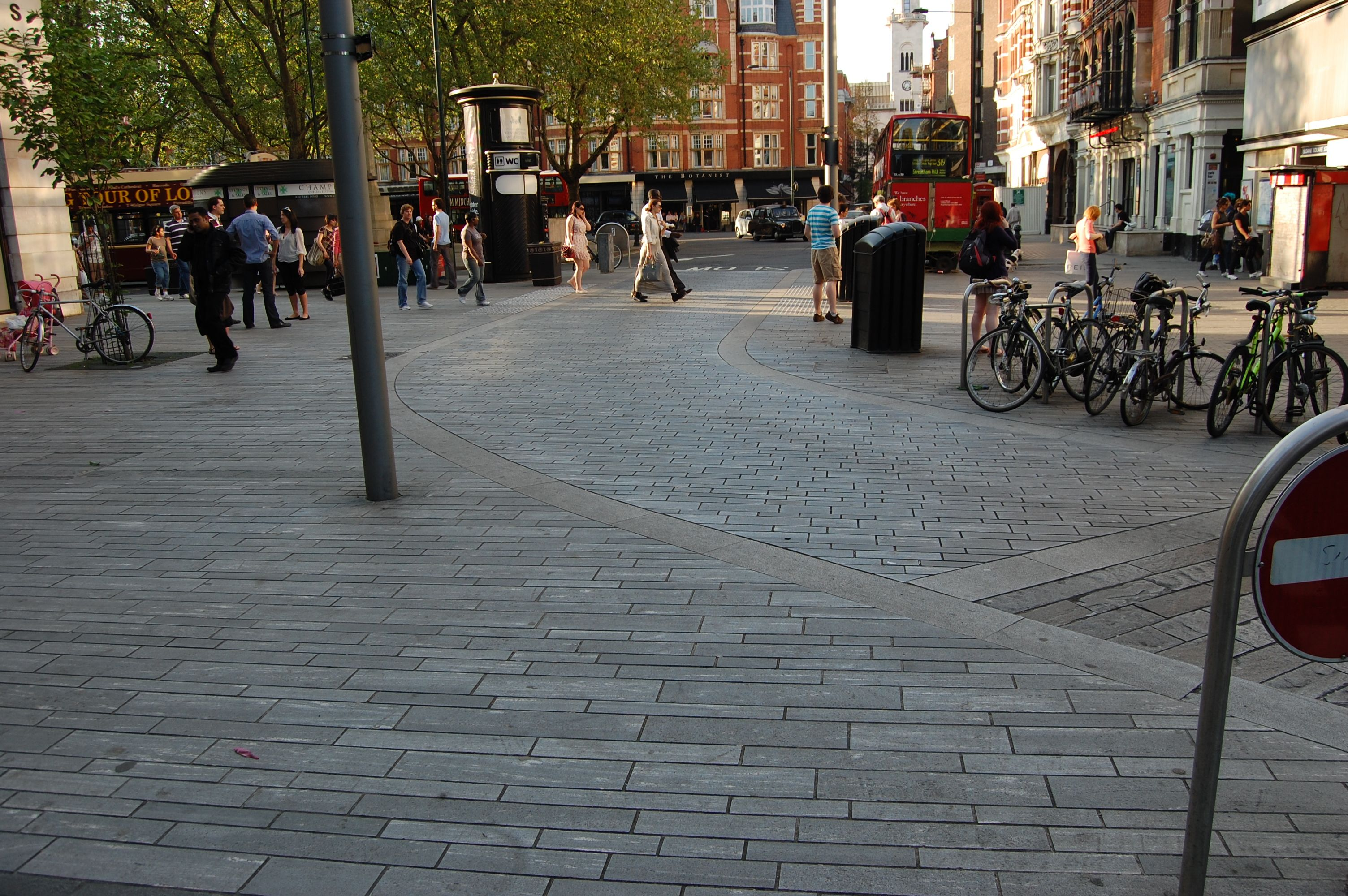 Shared Space At Holbein Place Crossing Sloane Square