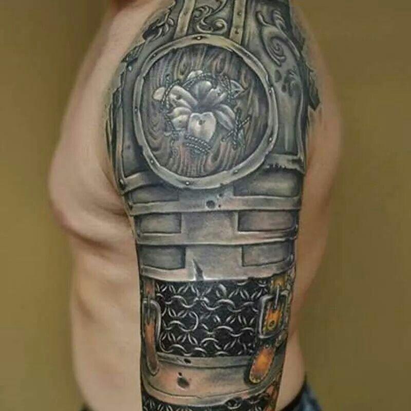 Tattoo Ideas Magazine: Armor Tattoo Sleeve-Inked Magazine