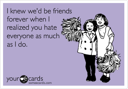 @Stefanie...this is totally us! LOL