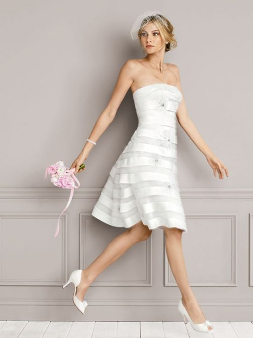 Beach Silk Wedding Dresses For Second Marriages