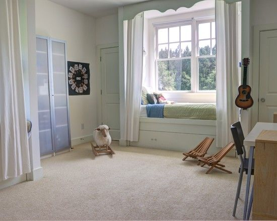 Kids Bedroom Window farmhouse kids with comely window bed design also beige wall to