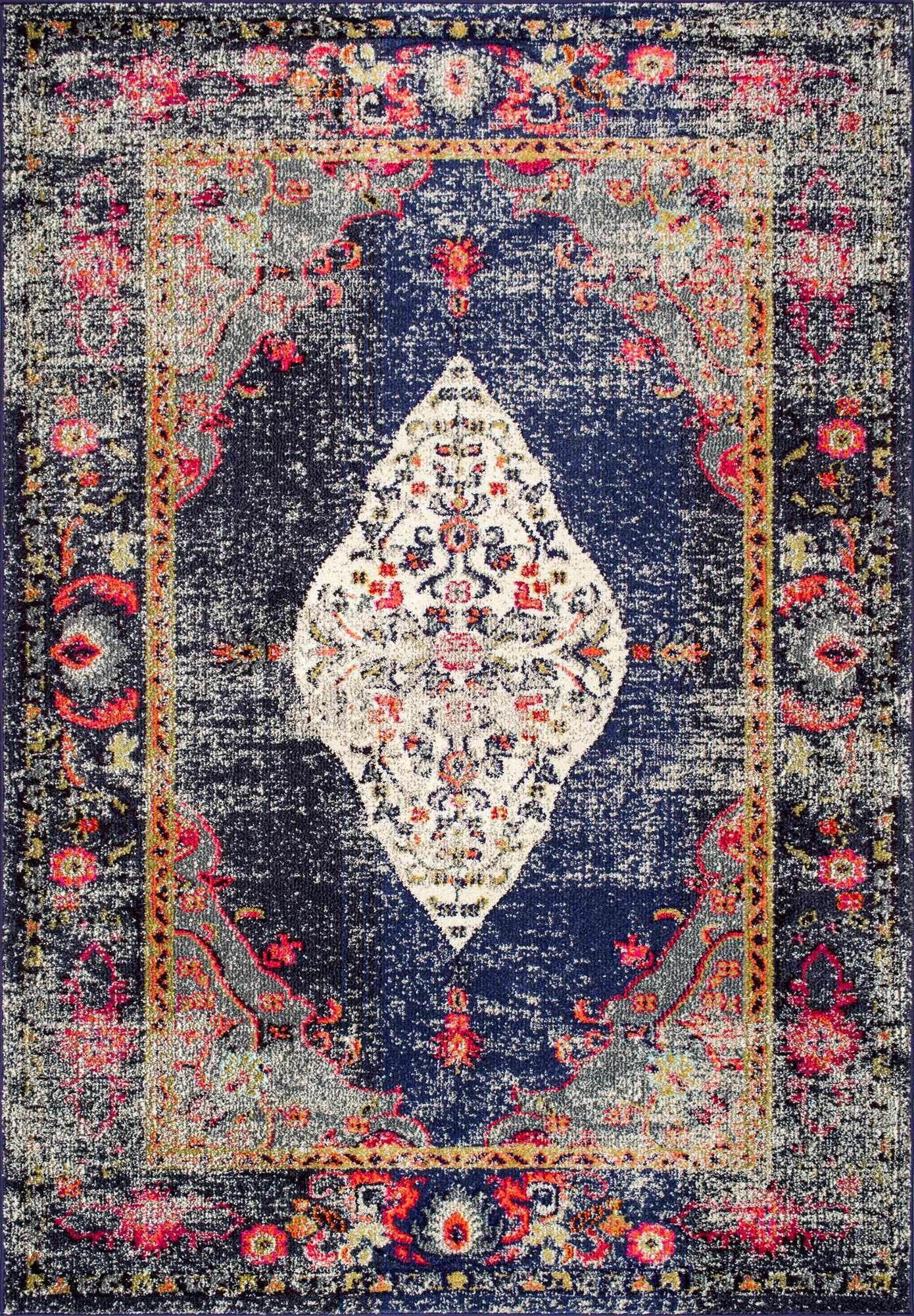 Rugs Usa Area Rugs In Many Styles Including Contemporary Braided Outdoor And Flokati Shag Rugs Buy Rugs At America S H Navy Area Rug Medallion Rug Navy Rug