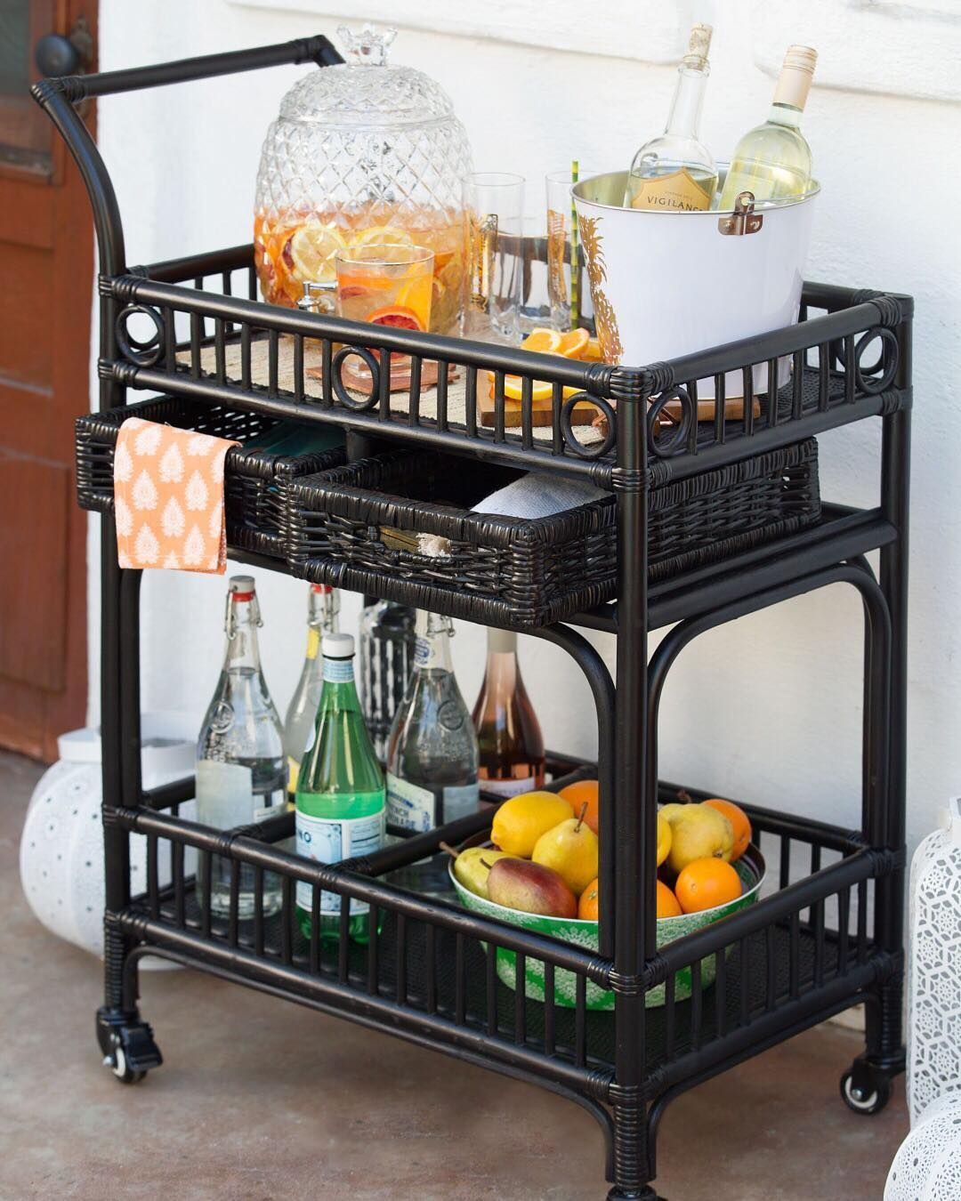 Lovely Patio Bar Cart
