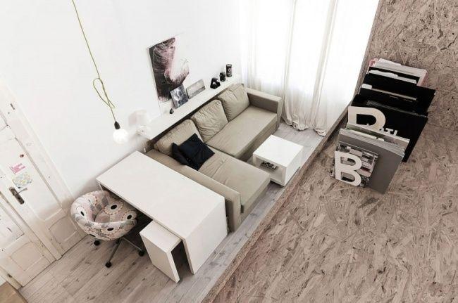 Wundervoll Kleine Wohnung Einrichten Wohnzimmer Schreibtisch Ecksofa 650×431 Pixel