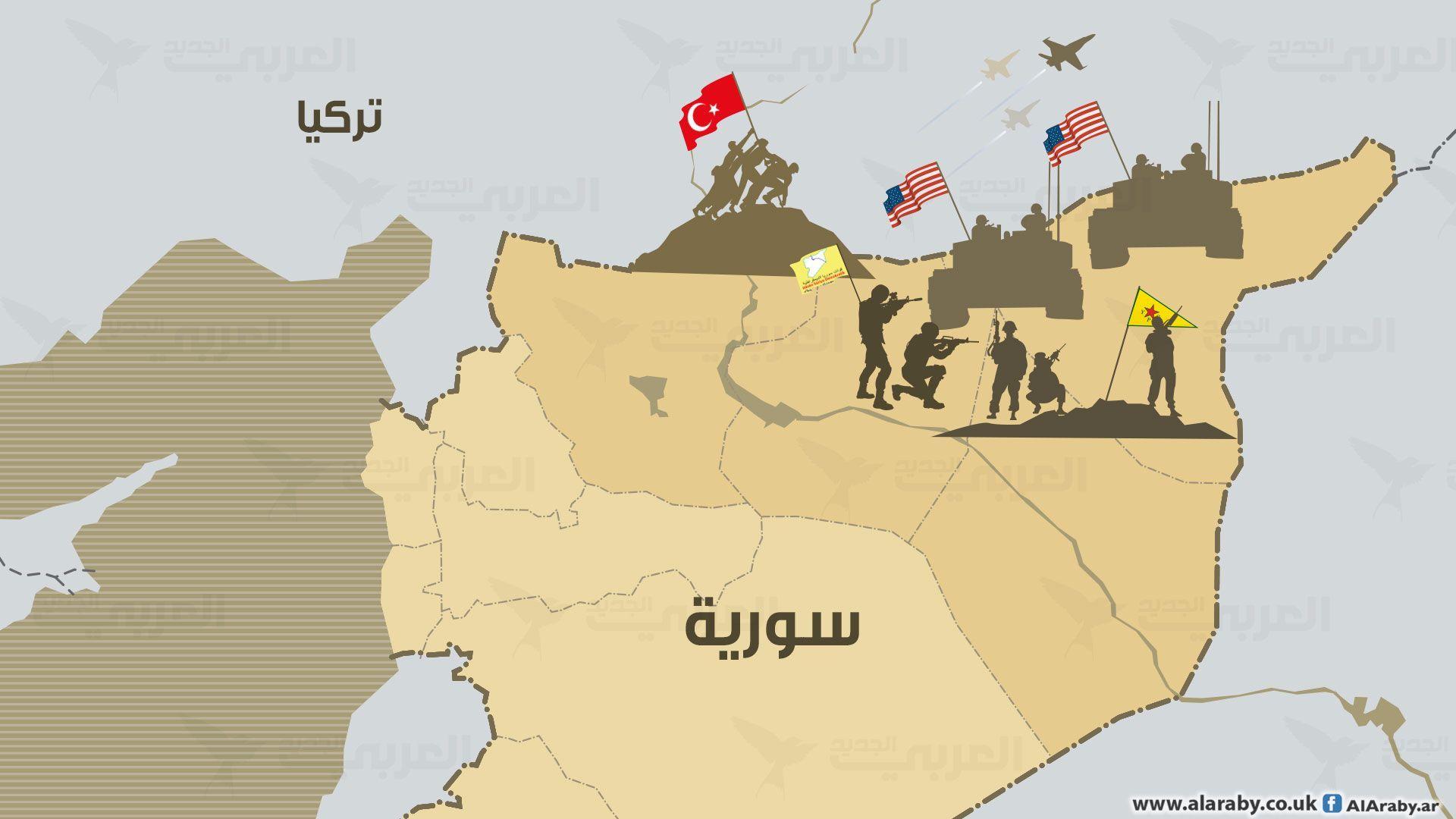 أميركا تعيد الأكراد إلى الجبال Diagram Map World