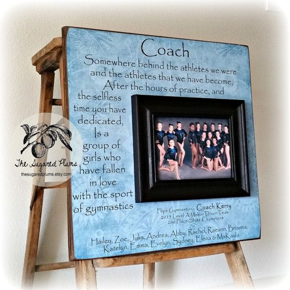 Custom Coach Picture Frame Gift Sisters Sports Dance Team Gymnastics Team Coach Cheer Leading End Of S Cheer Coach Gifts Coach Picture Frame Coach Gifts