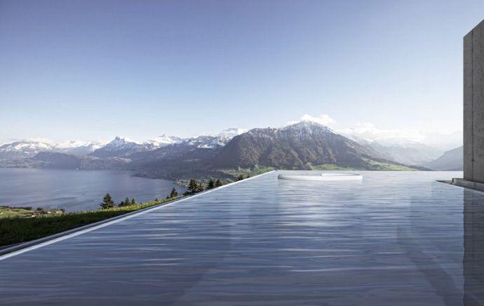 villa honegg – a luxury hotel | villa honegg, beautiful pools and