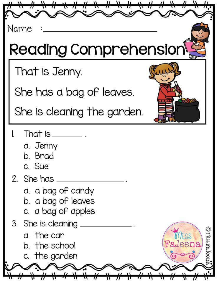 Free Reading Comprehension is suitable for Kindergarten students ...