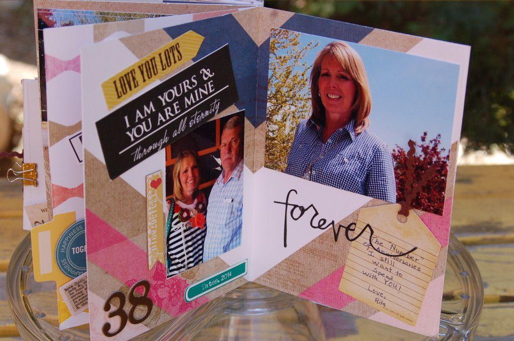 Anniversary Scrapbook Pink Polka Dot Creations Anniversary Scrapbook Anniversary Books Anniversary