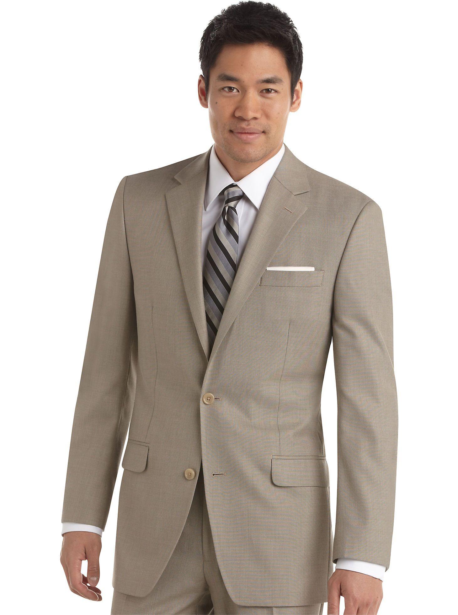 da4d40eec5b0be Mens Warehouse Suits - Michael Kors Tan Sharkskin Slim Fit Suit - Men's  Wearhouse