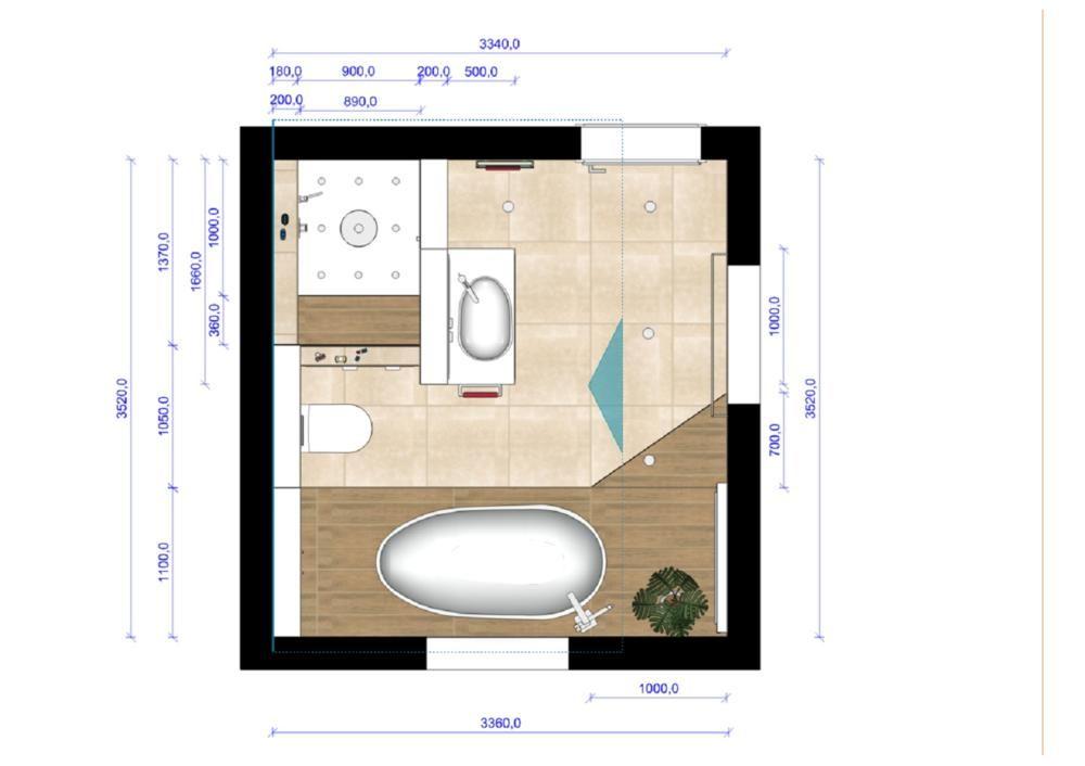 Grundriss badezimmer 9qm design for Badezimmer ideen 6 qm