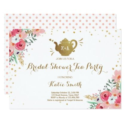 Bridal shower tea party invitation floral teapot bridal shower tea bridal shower tea party invitation floral teapot bridal shower tea tea party invitations and bridal showers filmwisefo Gallery