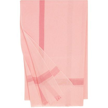 """Nuage Stole in cotton, pink, 78.7"""" x 39.4"""" - HERMES"""