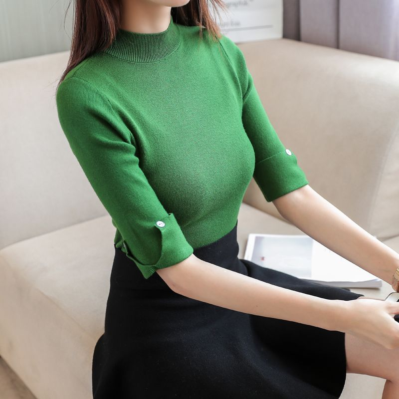 b3e5302cb375 Women Sweater 2018 Autumn Winter Flower Embroidered O Neck Knitted ...