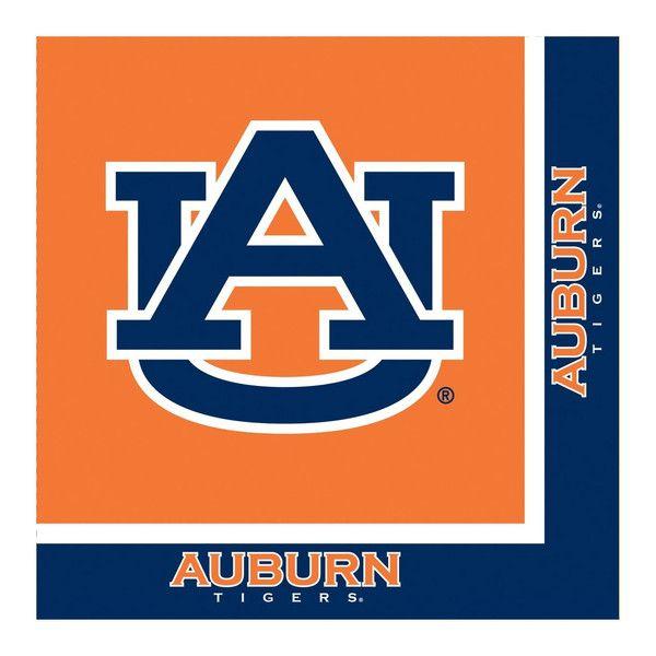 Auburn Univ 2 Ply Lunch Napkins/Case of 240