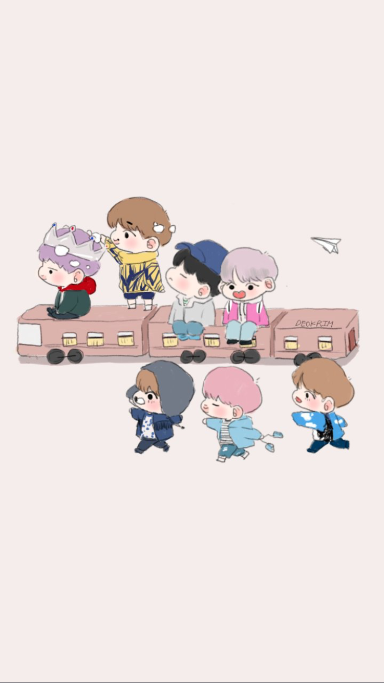 So cute Bts chibi, Bts wallpaper, Bts fanart