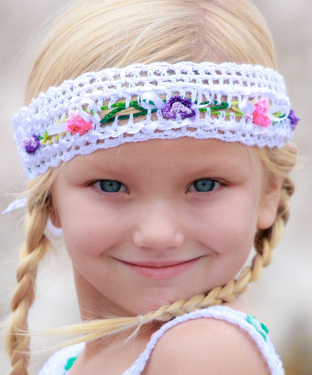 White Gina Ibiza Crochet Headwrap