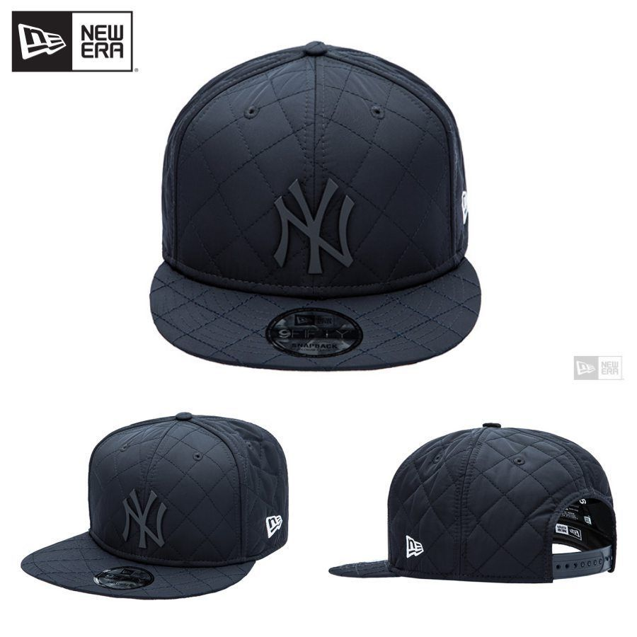 23e6a058695 eBay  Sponsored Newera Quilted NewYork Yankees 9FIFTY Snapback Cap Hat Free  Size Navy 11560613