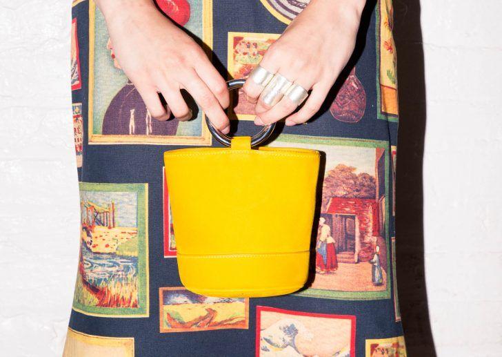 Simon Miller's Creative Directors Talk Denim: Yellow Bag, Printed Skirt, Manicure | coveteur.com