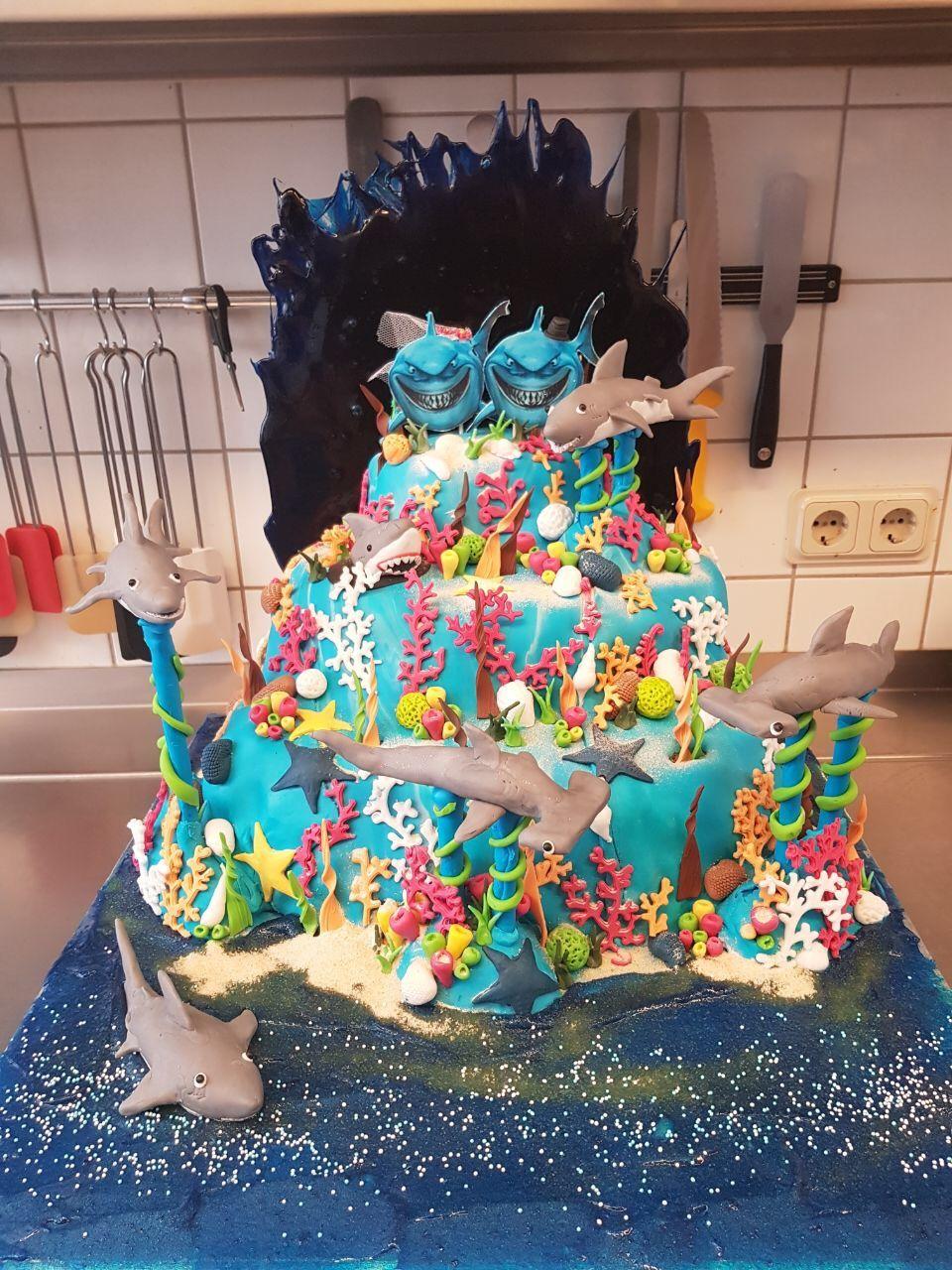 Unterwasserwelt Torte Kuchen Motivtorten Tortendeko