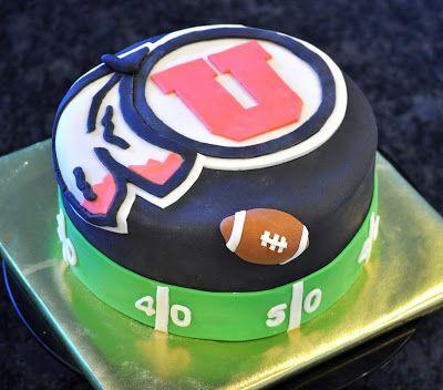 Devanys Designs: University of Utah Football Cake - ESPN Game Day ...