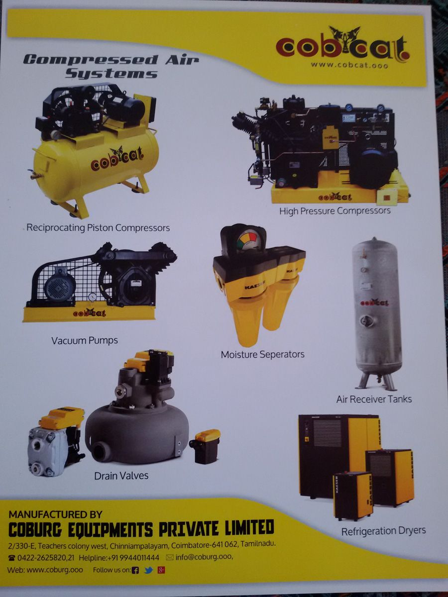 COBCAT Manufacturers & suppliers of air compressors