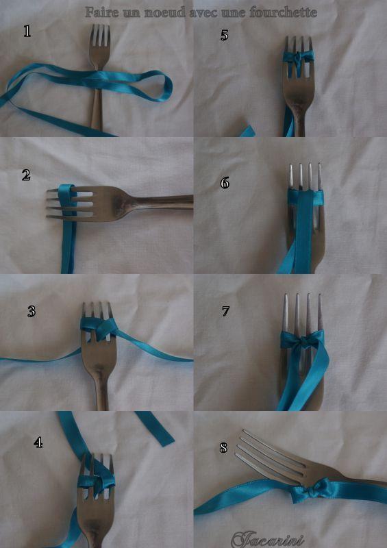 Faire Un Noeud Avec Une Fourchette Idees Sympas Emballage