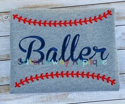 Baller - 4 Sizes! | What's New | Machine Embroidery Designs | SWAKembroidery.com Stitch Away Applique