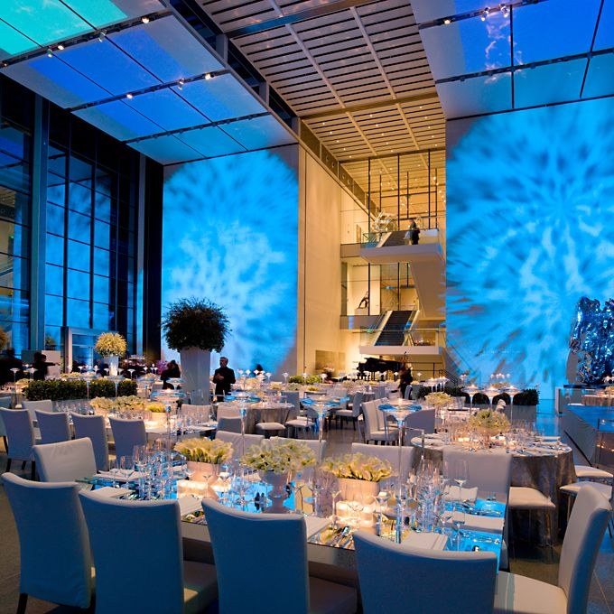 Grey And Blue Modern Reception Decor