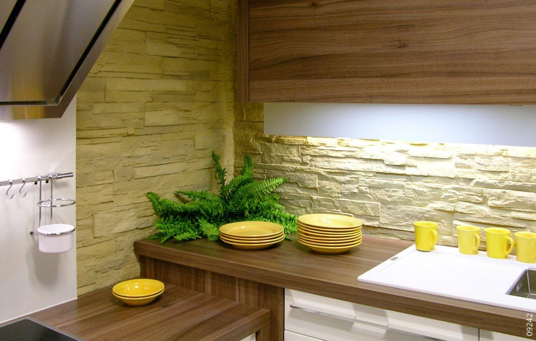 Stein Wand Küche Lascas