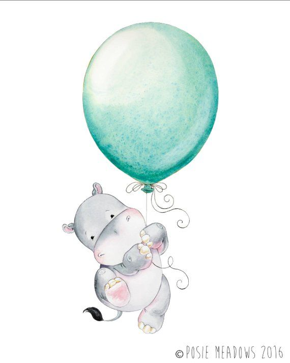 Hippopotamus, Hippo, Watercolor Hippo, Baby Hippo, Watercolor Nursery, Nursery Decor, Nursery Art, Hippo Nursery, Nursery Hippo Art