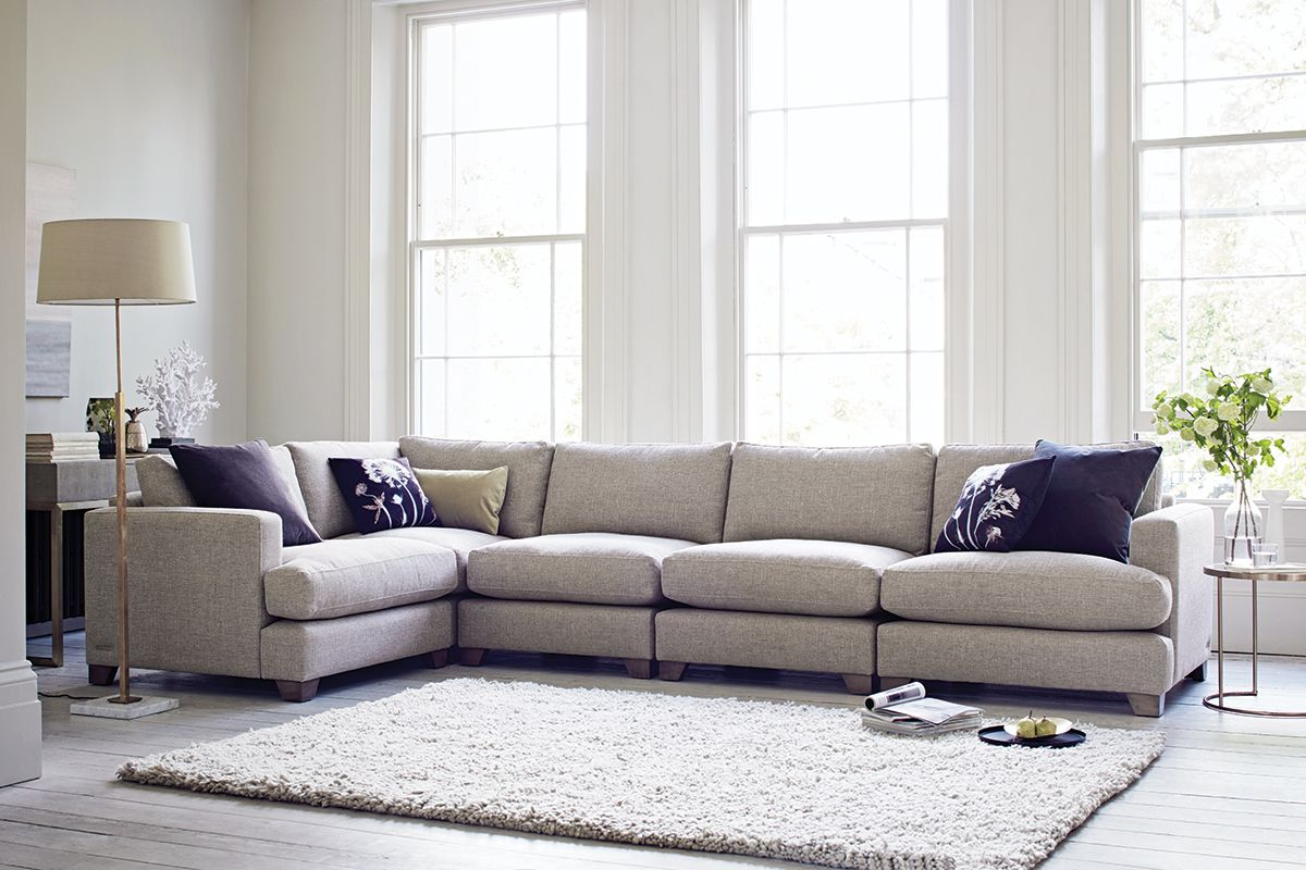 best family sofas uk sofa bed childrens malaysia the lounge co lola modular in tweedy weave mouse