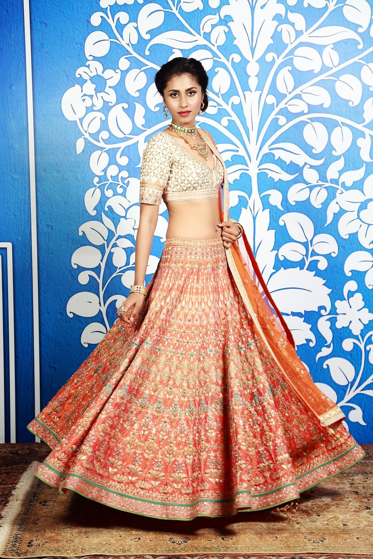 This lehenga is master piece with a glimpse of rajasthani culture