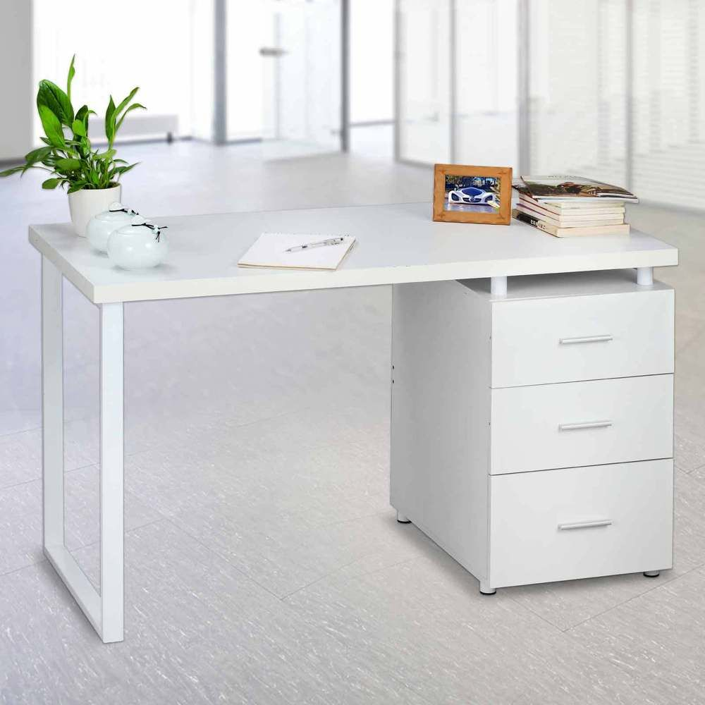 office workstations desks. Home Office 3 Drawer Computer Desk Executive Study Workstation White\u2026 Workstations Desks