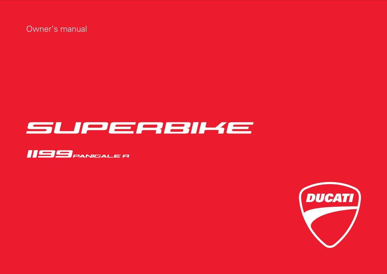 Ducati Sbk 1199r Abs Usa My13 2013 Owner U2019s Manual Has Been