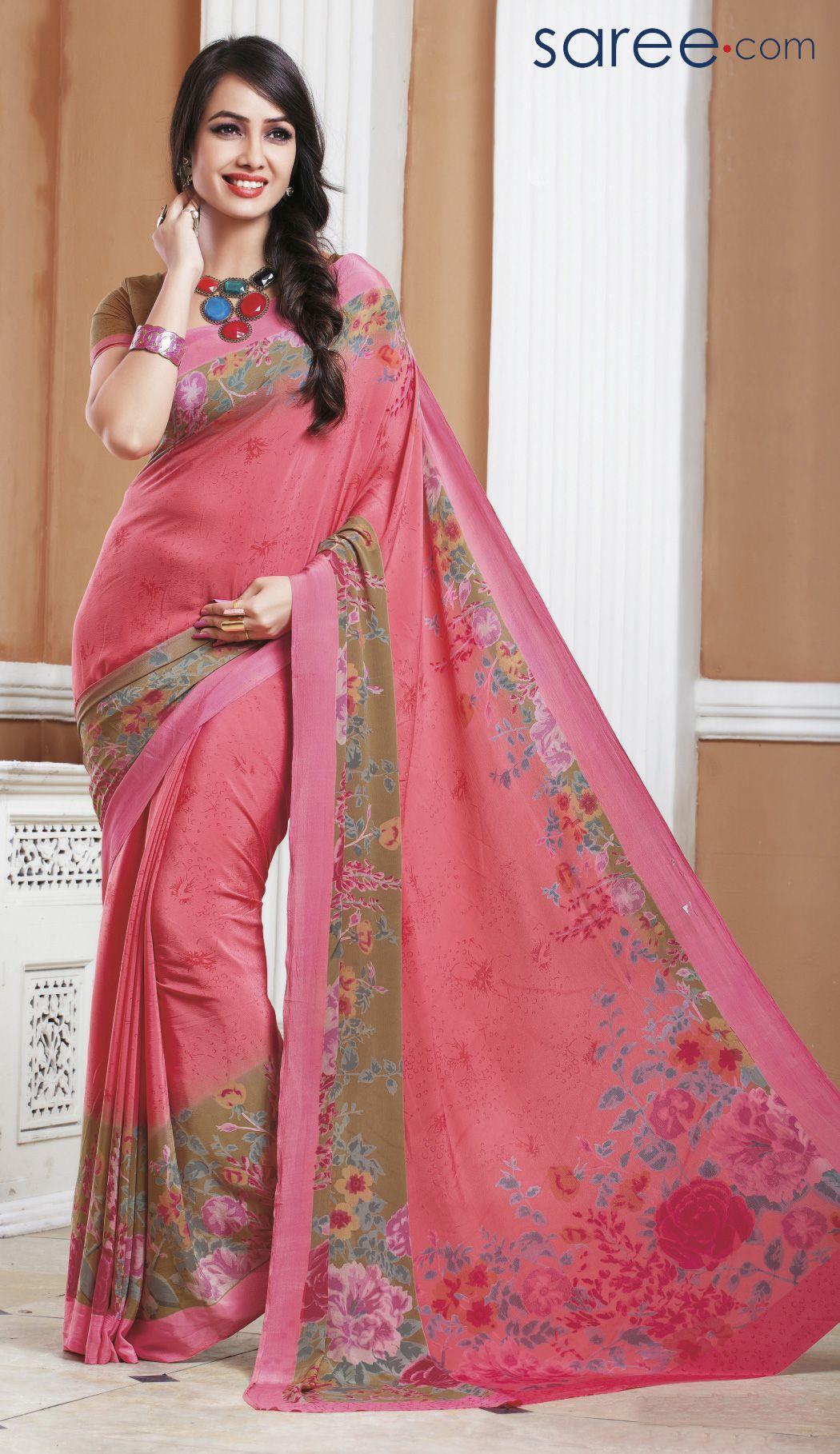 Saree images paithani pink silk printed saree  fashion of south asia saari