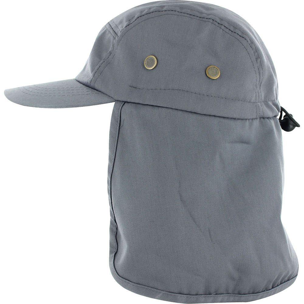 0baf3847 Low Profile Ear Neck Cover Sun Flap Cap - BLACK   Products   Hats ...