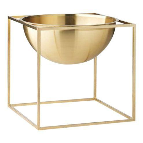 Kubus Large Brass Bowl is part of Scandinavian Home Accessories Decor - The Kubus Bowl is based on original sketches by Mogens Lassen, and features elements evocative of the Bauhaus school, one of Mogens Lassen's primary inspirations  The German design school believed that good design should be accessible to the people, and this concept appealed to architect Mogens Lassen  The Kubus Bowl is produced in Denmark with a focus on high quality and solid craftsmanship, and the bowl is a natural extension of the iconic Kubus candleholder, designed by Mogens Lassen in 1962